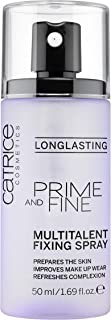 Catrice   Prime and Fine Multitalent Fixing Spray - Transparent Fast-Drying Fixing Spray   Vegan