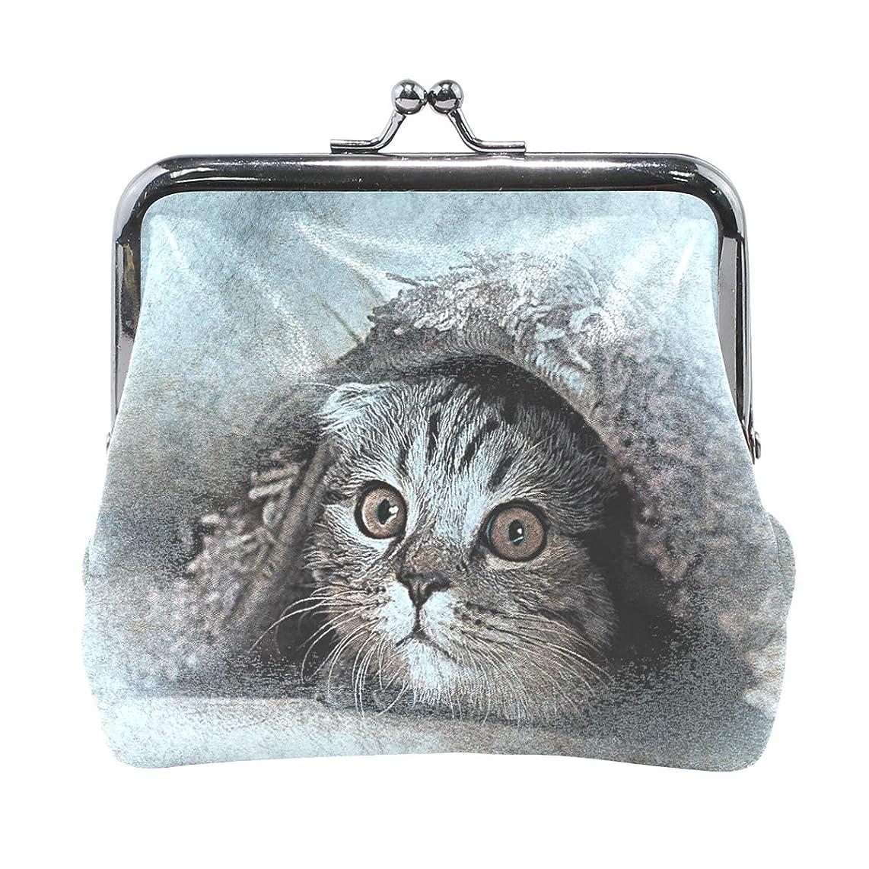 着飾る投票大惨事がま口 財布 口金 小銭入れ ポーチ 猫 ANNSIN バッグ かわいい 高級レザー レディース プレゼント ほど良いサイズ