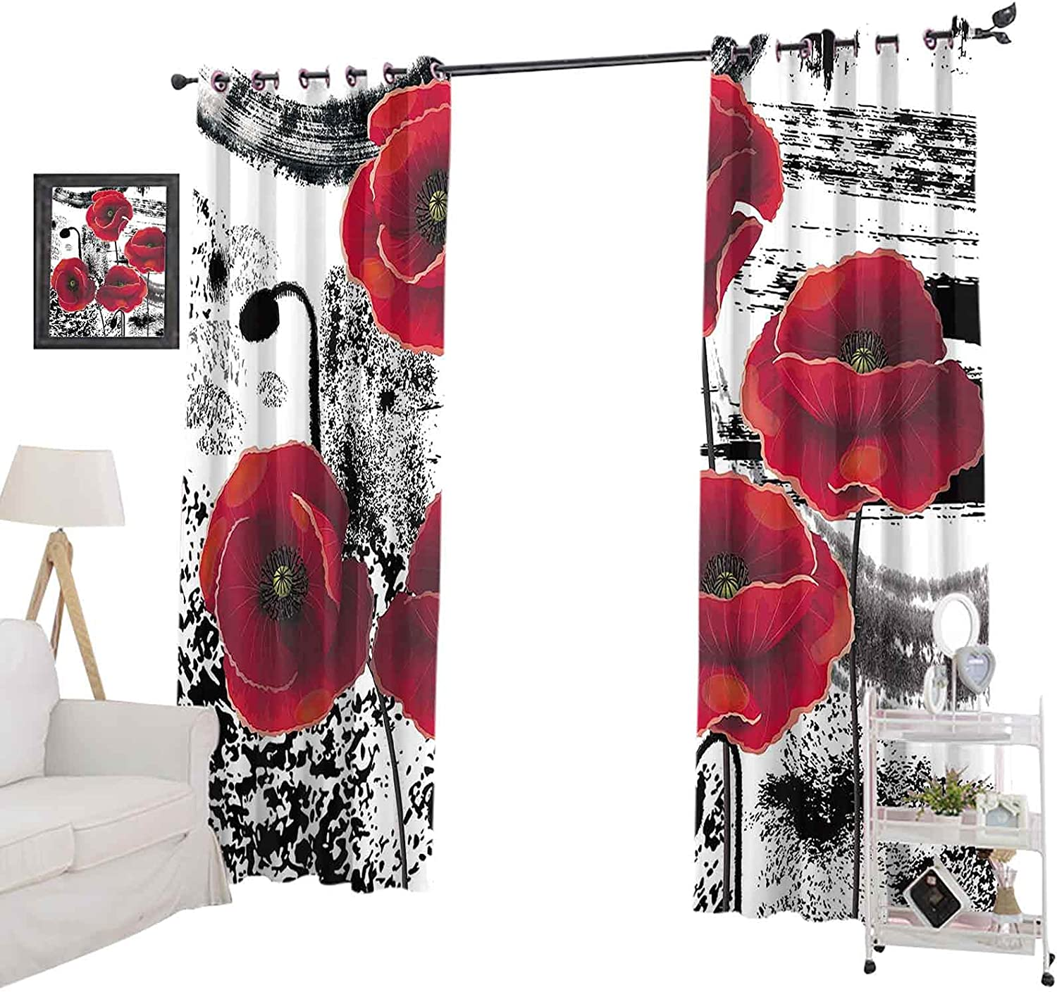 Blackout trust Curtain 96 Inches Long for Window Kids half Be Panel