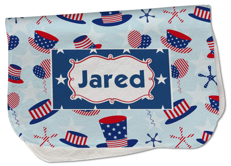 Patriotic Wholesale Celebration New mail order Burp Cloth - Name or Fleece w Text