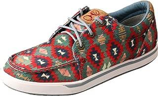 Twisted X Women's Hooey Loper Aztec Shoes Moc Toe Multi 9.5 M