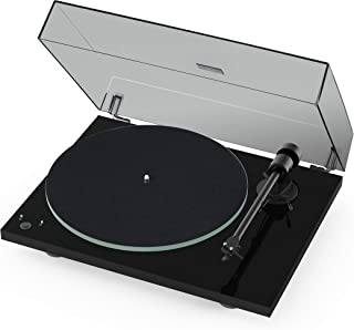 Pro-Ject T1 Phono SB Turntable with Built-in Preamp and Electronic Speed Change (Piano Black)
