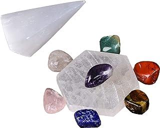9 Pcs Chakra Healing Kit Natural Crystal Set Reiki Healing Crystal Gift for Chakra Balancing