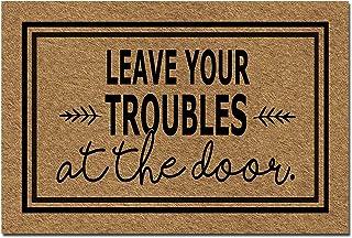 Sponsored Ad - Doormat Funny Front Door Mat- Leave Your Troubles at The Door Doormat Rubber Non Slip Backing Funny Doormat...