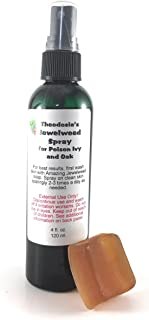 Jewelweed Poison Ivy Spray and Soap for The Relief of Itch and Rash from Oak, Ivy and Sumac with Natural Jewelweed (4oz Sp...
