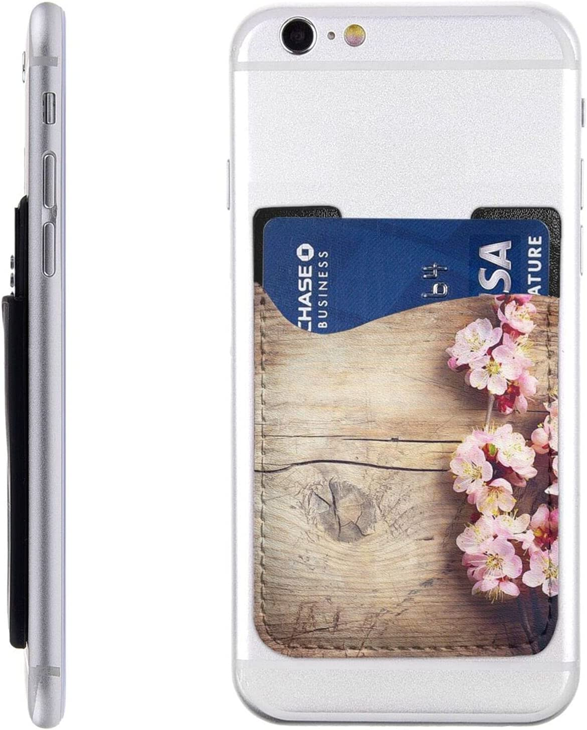 Seasonal Wrap Introduction Spring Blossom Long-awaited On Wooden Table Card Stic Phone Cell Holder