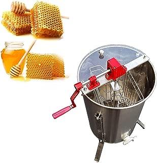 INTBUYING 2 Frame Manual Honey Extractor Beekeeping Equipment Stainless Steel Honeycomb Drum Bee Honey Harvest