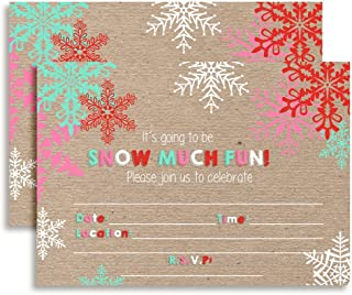 Snow Much Fun Snowflake Birthday Party Invitations, 20 5