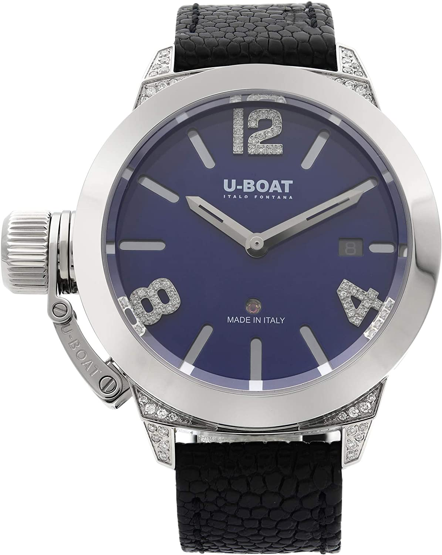 Reloj Automático U-Boat Classico, Diamantes, Azul, 40m, Edición Limitada, 7077