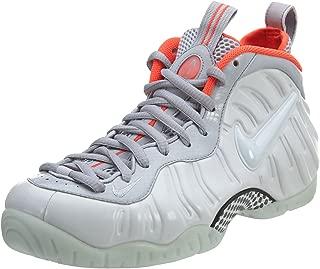 Nike Men's Air Foamposite Pro PRM Pure Platinum/Bright Crimson 616750-003 (Size: 9)