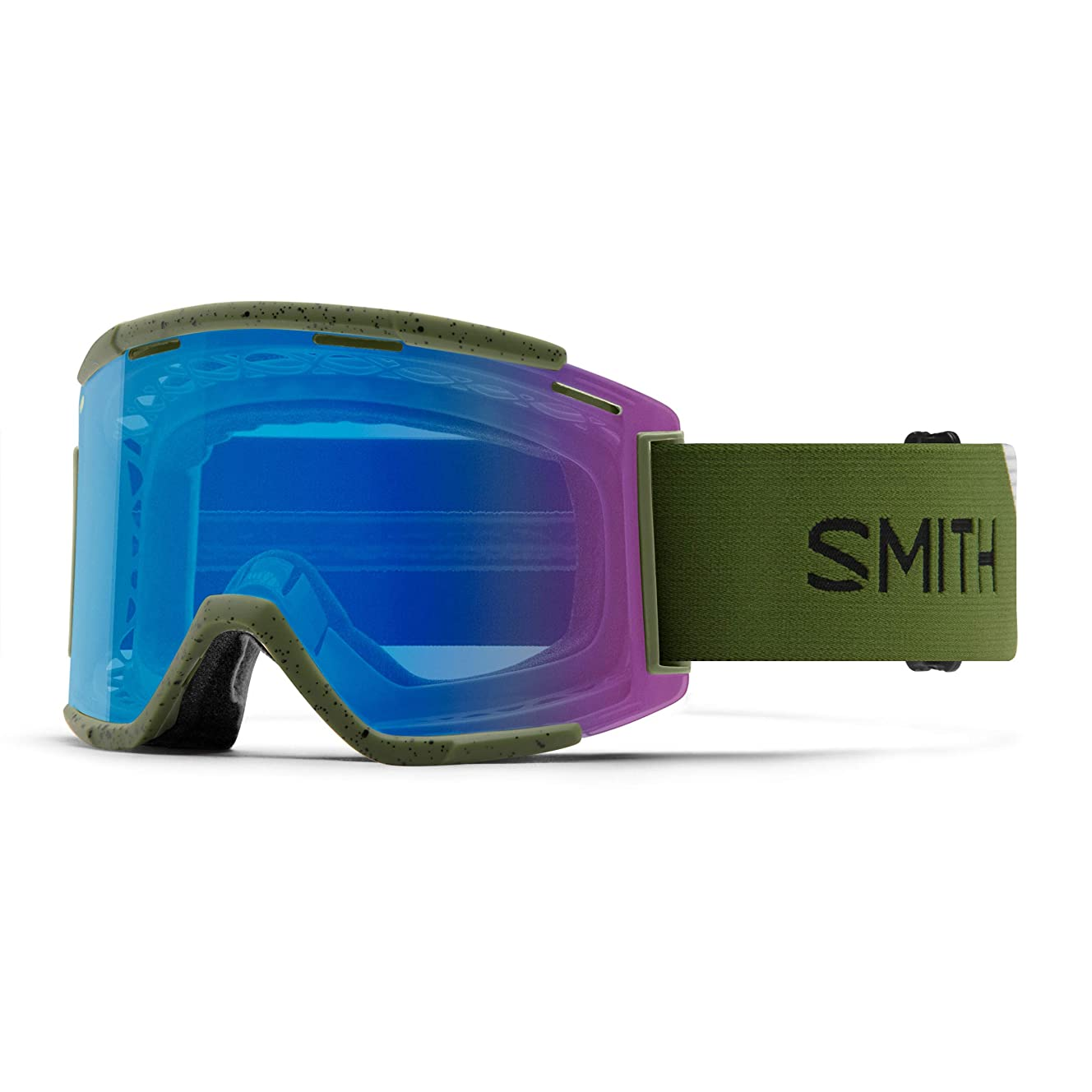 Smith Optics Squad XL Adult Off-Road Cycling Goggles - Moss/ChromaPop Contrast Rose/One Size