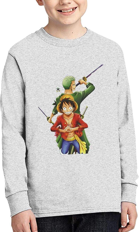 Youth Boys' Cotton 3D Print Comfty Crewneck Long Sleeve T-Shirt Anime Graphic Tees Shirt Tops