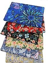 Hanjunzhao Reactive Dyes Print Floral Cotton Fat Quarters Fabric Bundles 18x22 inches, Pre-Cut Sewing Quilting Fabric