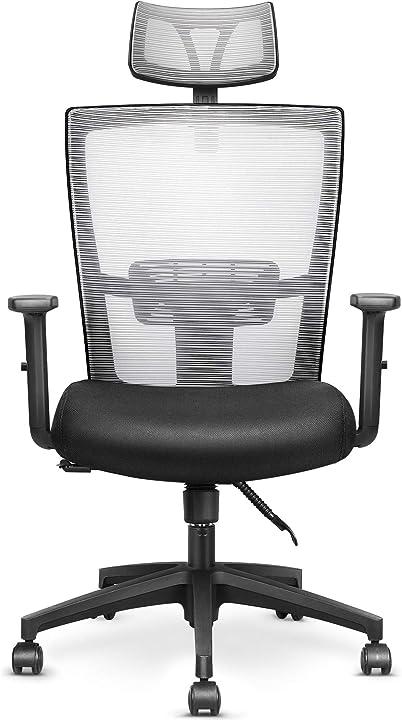 Sedia da ufficio ergonomica sedia traspirante per ufficio/casa sedia scrivania regolabile 135° mfavour B08R5WXYFN