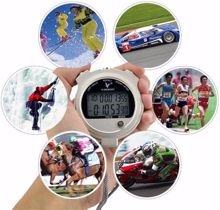 Biscount Stop watch Metallic Professional Laps Regular Popular popular store Spli 10 Stopwatch