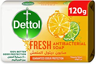 Dettol Fresh Anti-Bacterial Bathing Soap Bar for effective Germ Protection, Personal Hygiene & Odour Protection (protects ...