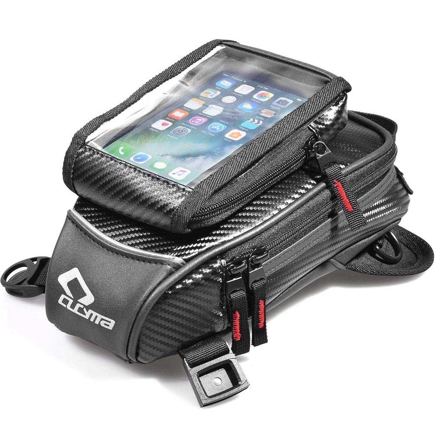 獣カスタム節約多機能バイク用レッグバッグ、オイル燃料タンクバッグ、磁気ライディングウエストパック、アウトドアトラベルバッグ防水ツールバッグブラック