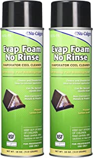 Nu-Calgon 4171-75 Evap Foam No Rinse Evaporator Coil Cleaner, 18 oz. (2-(Pack))