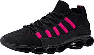 DYKHMATE Mens Womens Trainers Shock Absorbing Running Shoes Lightweight Breathable Casual Walking Shoes Fitness Athletic S...