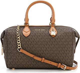 NEW AUTHENTIC MICHAEL KORS GRAYSON SIGNATURE CONVERTIBLE SATCHEL (Brown/Luggage)