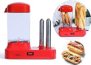 Machine à hot-dogs, pour 6saucisses, avec récipient chauffant amovible, chauffe-saucisses avec brochettes en acier inoxyd...