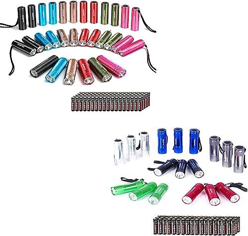 popular EverBrite 30-pack Mini Flashlight Set, 2021 90 Batteries Included+18-pack Mini LED Flashlight Set, Includes Lanyard & 54 discount x AAA Batteries online sale