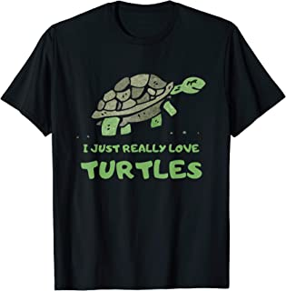 Cute Funny Turtle Lovers T-shirt Novelty Animal Tees