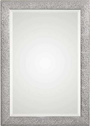 lowest Uttermost 09361 Mossley Transitional sale Textured Metallic Silver Rectangular online Wall Mirror outlet online sale