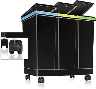 Smarty - Contenedores para la separación de residuos Ecobin - 3 Contenedores - Capacidad total 63 litros - Medidas 55 x 34...