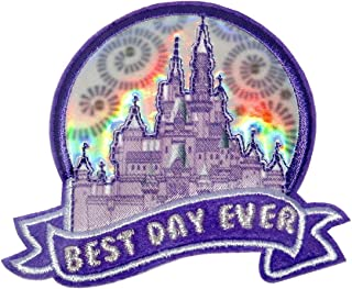 Disney Parks - Cinderella Castle Best Day Ever - Embroidered Applique Decorative Patch