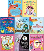 Princesses And Fairies 8 Magical Stories Books Collection in Zip Bag (There Was An Old Dragon Who Swallowed A Knight, Comet the Fairy Unicorn,The Singing Mermaid,Freddie and the Fairy,The Something..