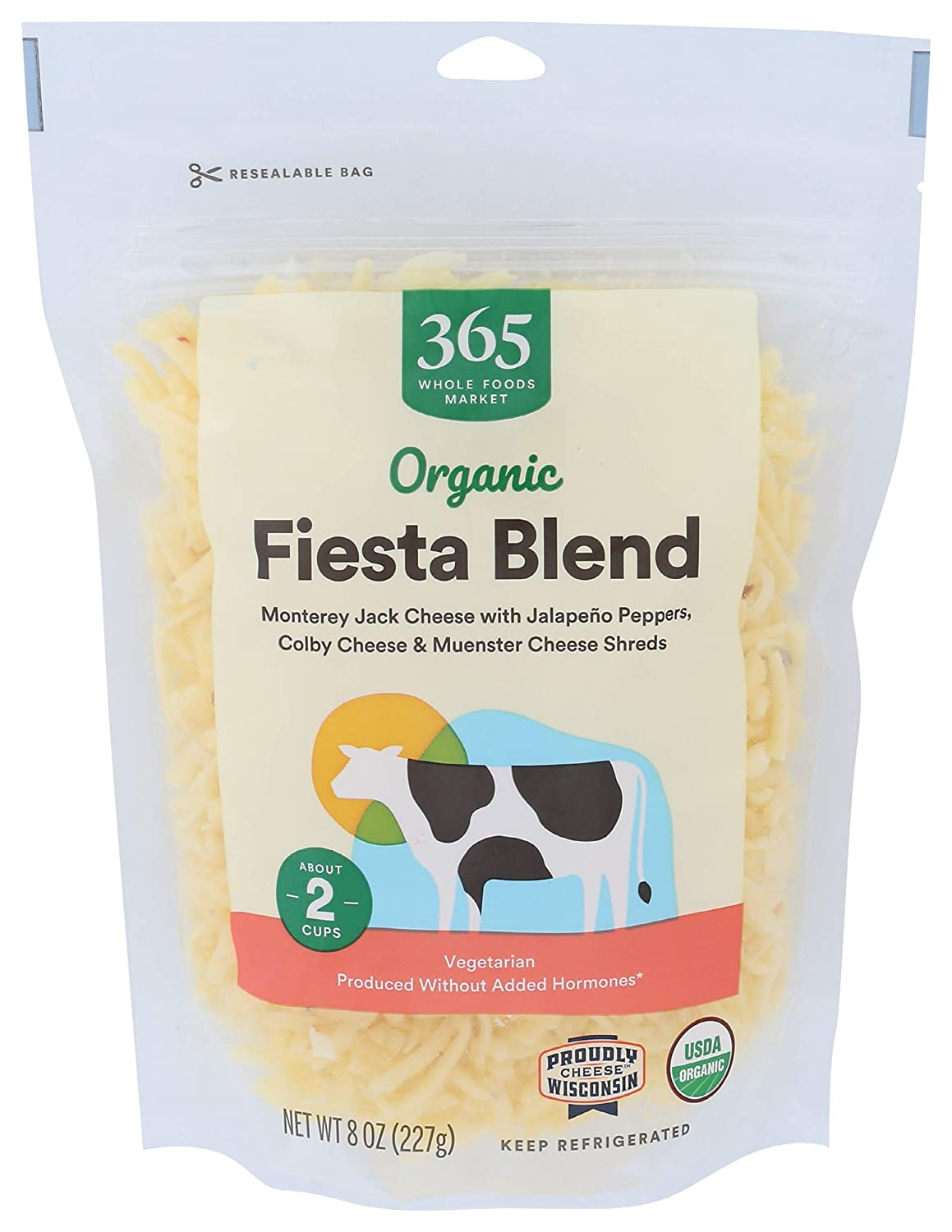 365 by Whole Foods Super beauty product restock quality top 4 years warranty Market Blend 8 Ounce Organic Shred Fiesta