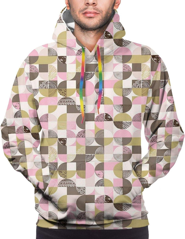 Men's Hoodies Sweatshirts,Artistic Simple Cartoonish Floral Pattern with Sweet Daffodils