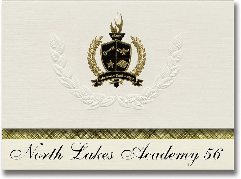 Signature Announcements North Lakes Academy 56 56 56 (Forest Lake, MN) Abschlussankündigungen, Präsidential-Stil, Grundpaket mit 25 Goldfarbenen und schwarzen metallischen Folienversiegelungen B0795S9XB2   Up-to-date-styling  bd8be0