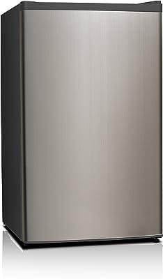 Midea WHS-121LSS1 refrigerador Independiente Negro, Acero inoxidable 93.45 L - Frigorífico (93.45 L, Negro, Acero inoxidable)