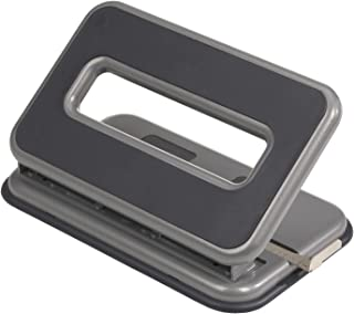 Officemate Auto-Centering 2-3 Hole Adjustable Punch, 32 Sheet Capacity, Silver and Charcoal (90125)