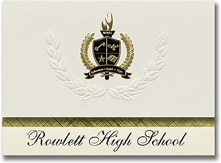 Signature Ankündigungen Rowlett (High School (Rowlett (, TX) Graduation Graduation Graduation Ankündigungen, Presidential Stil, Elite Paket 25 Stück mit Gold & Schwarz Metallic Folie Dichtung B078Y4G6GW  Fein wild 4fe6fb