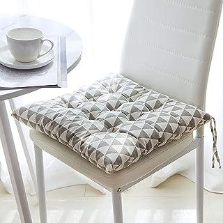 Yuanyou, set di 6 cuscini quadrati in cotone con cinghie, cuscini per sedia, cuscini per sedia con laccetti per sala da pr...