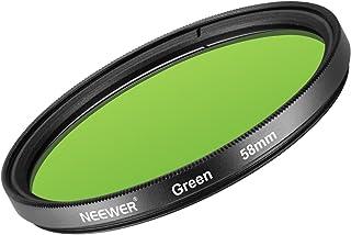Neewer 58mm Filtro de Lente Verde para Canon EOS Rebel T6i T6 T5i T5 T4i T3i Cámara Réflex Digital de Vidrio Optico de Alta Definición y Marco de Aleación de Aluminio