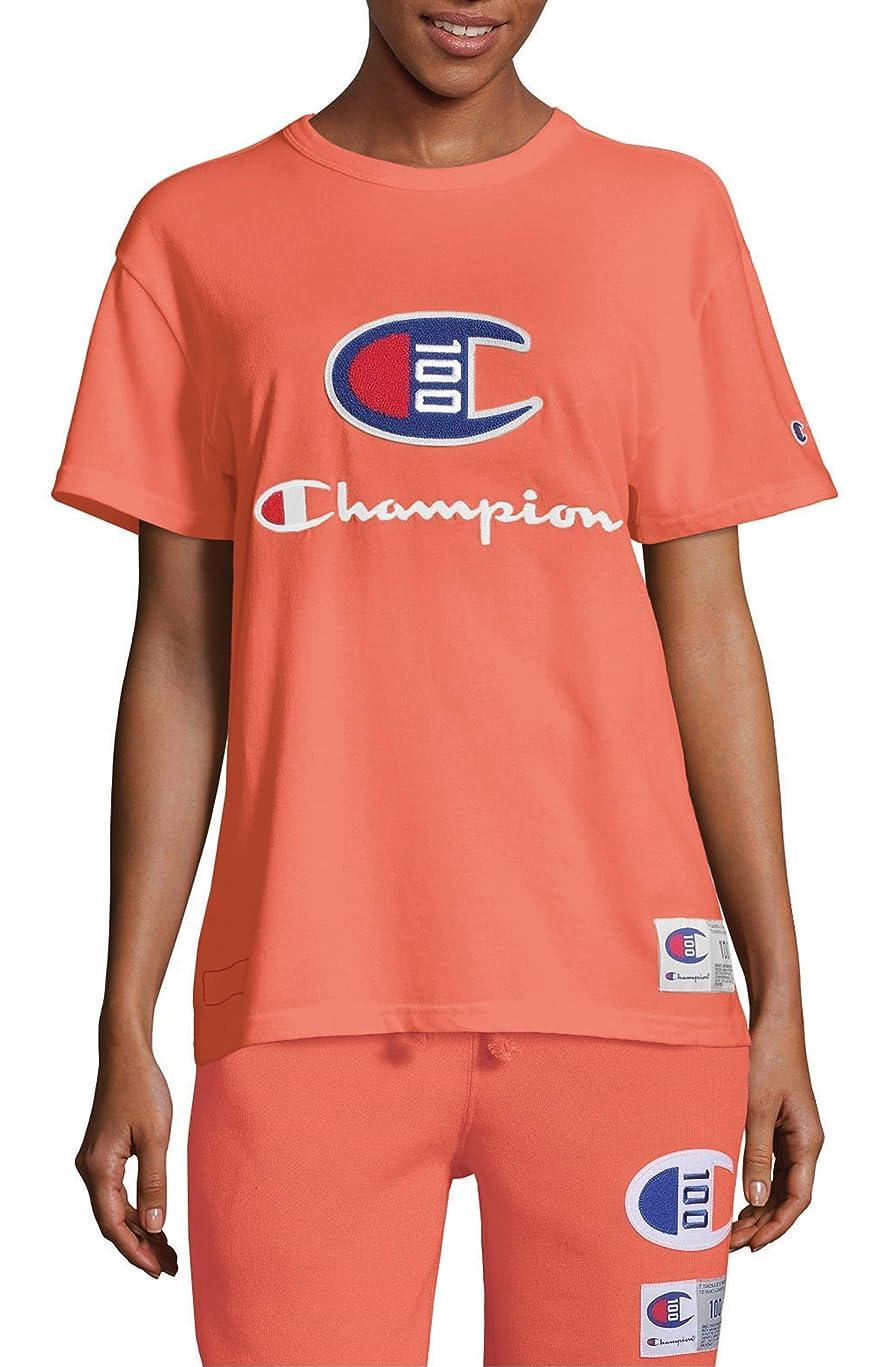 キャンプ概要まだ[チャンピオン] レディース Tシャツ Champion Century Collection Logo Tee [並行輸入品]