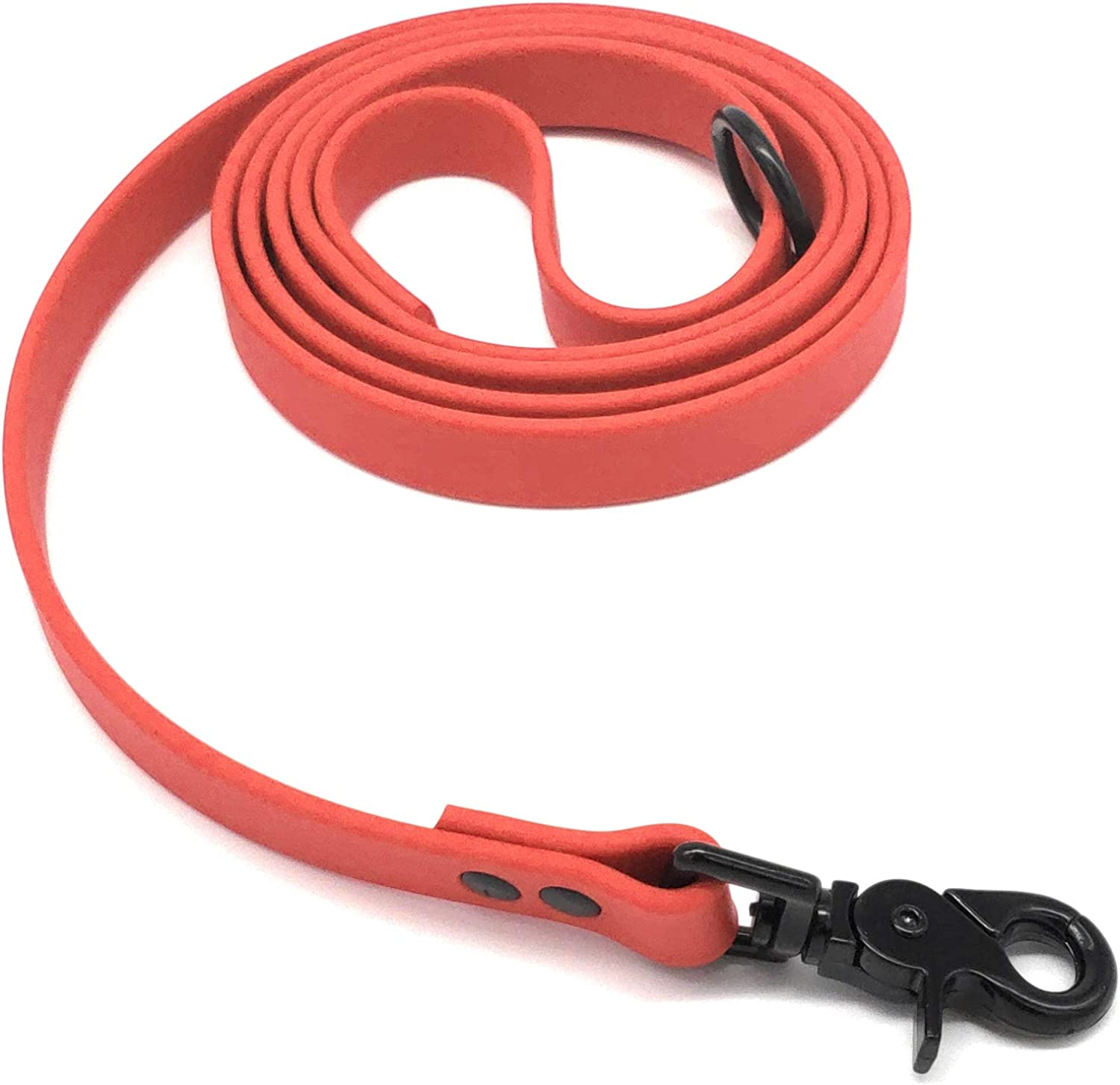 Furbaby Products Dog Training Leash Made for Puppy, Medium, and Large Dogs Made from Biothane Material with Black Hardware (3ft, Red)