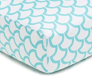 mermaid scale crib sheet