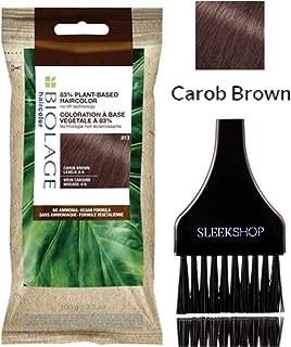 Matrix BioIage 91% PLANT-BASED HAIRCOLOR, No-Lift Technology Dye (w/Sleek Tint Brush) No Ammonia, Vegan Formula Hair Color (Carob Brown)