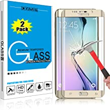 [2 PACK GOLD] Samsung Galaxy S6 Edge Plus Screen Protector, DONWELL Full Screen Coverage Tempered Glass Screen Protector for Galaxy S6 Edge+/SM-G928 [3D Curved] [Edge to Edge] [HD Clear] [Bubble Free]