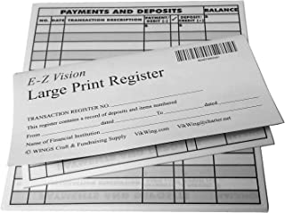 large print checks for low vision