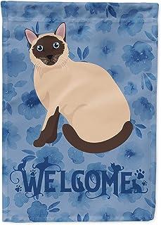 Caroline`s Treasures CK5059GF Siamese Traditional Cat Welcome Flag Garden Size, Small, Multicolor