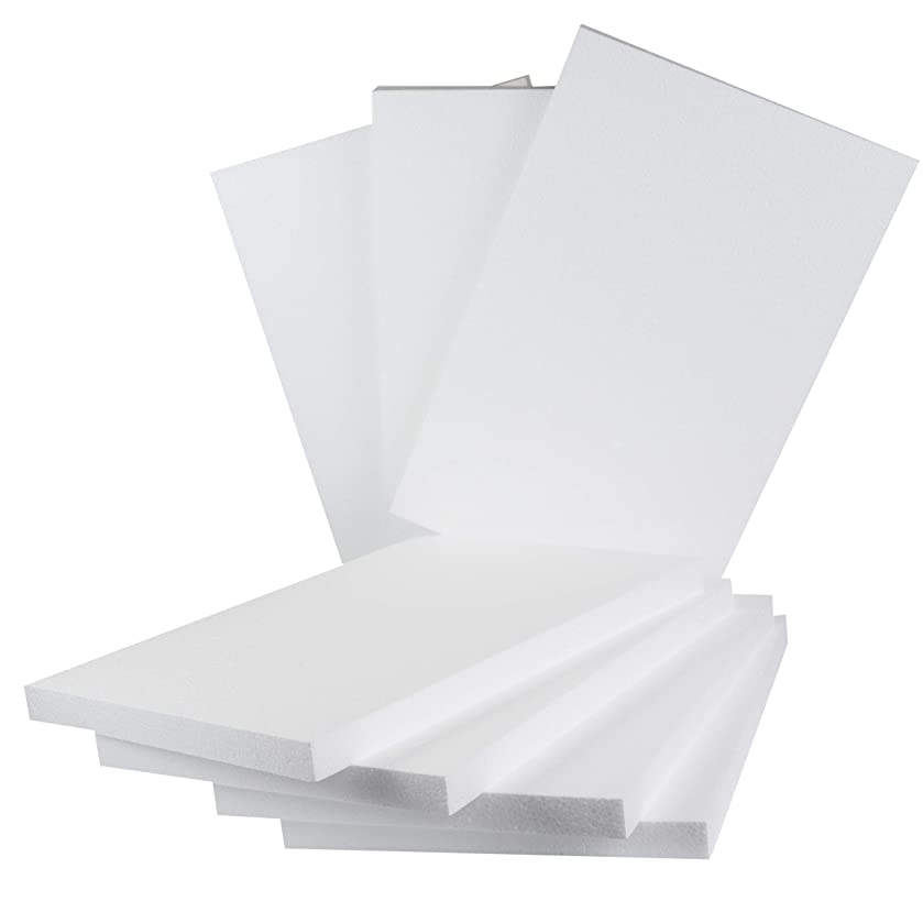 Silverlake Craft Foam Block - 7 Pack of 11x17x1 EPS Polystyrene Styrofoam Blocks for Crafting, Modeling, Art Projects and Floral Arrangements - Sculpting Sheets for DIY School & Home Art Projects (7)