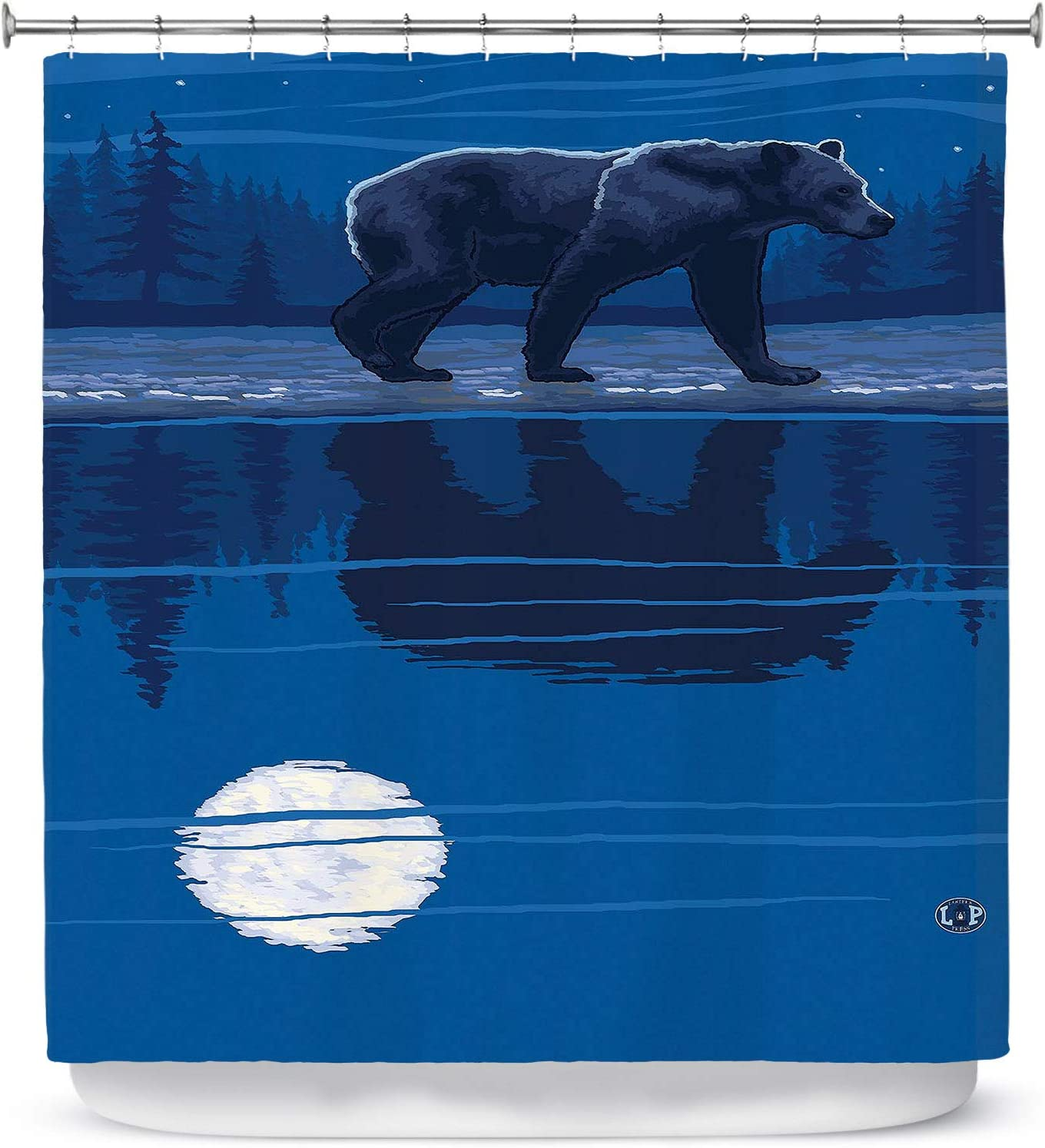 Dia Noche Designs Bathroom List price Shower Curtains Max 86% OFF LP Bea by Moonlight -