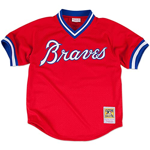 d22ad1fb907 Mitchell   Ness Dale Murphy Atlanta Braves MLB 1980 Authentic Mesh BP Jersey
