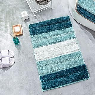Green Planet Non-Slip Bathroom Rug Mat Shag Microfiber Shower Bath Rug Absorbent Bath Mat Machine Washable 17.8''x25.6'' (...